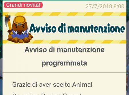 Animal Crossing: Pocket Camp, Penelope e Cubetto ora nel titolo, annunciata una manutenzione in arrivo settimana prossima