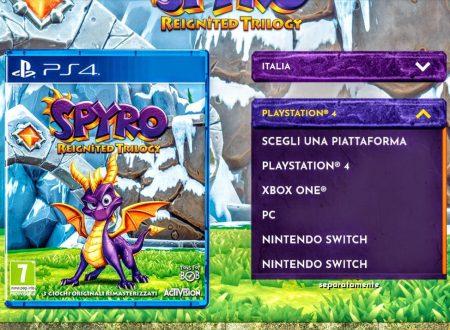 Il sito ufficiale inglese di Spyro Reignited Trilogy ha listato il titolo anche per Nintendo Switch