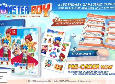 Monster Boy and the Cursed Kingdom, mostrato il package della versione Nintendo Switch