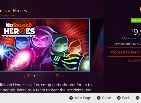 NoReload Heroes: il titolo è in arrivo il 19 luglio sull'eShop di Nintendo Switch