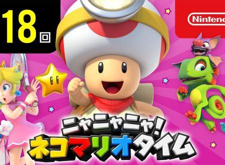 Nyannyan Neko Mario Time: pubblicato l'episodio 118 dello show felino con Mario e Peach