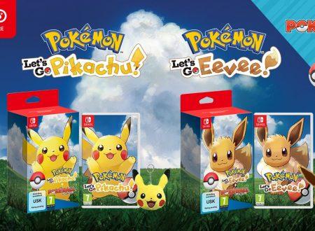 Pokemon Let's Go! Pikachu e Eevee: i titoli sono ora in preorder con portachiavi a tema sul Nintendo UK Store