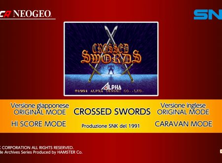 ACA NEOGEO Crossed Swords, uno sguardo in video al titolo dai Nintendo Switch europei