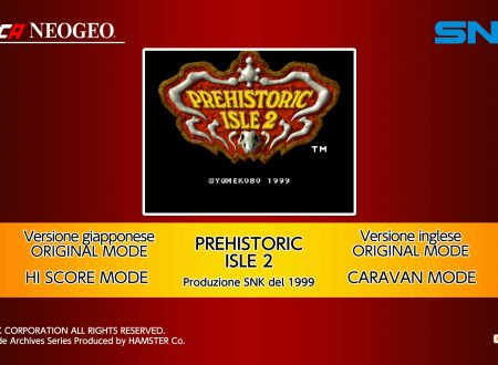 ACA NEOGEO Prehistoric Isle 2, uno sguardo in video al titolo dai Nintendo Switch europei