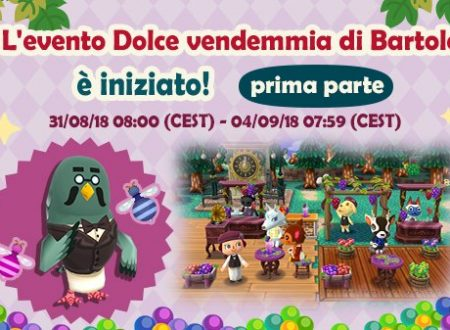 Animal Crossing: Pocket Camp, ora disponibile l'evento Dolce vendemmia di Bartolo
