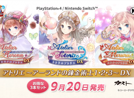 Atelier Rorona DX, Atelier Totori DX e Atelier Meruru DX: pubblicato un lungo trailer sui titoli