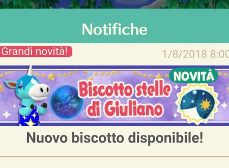 Animal Crossing: Pocket Camp, ora disponibile il biscotto della fortuna di Giuliano