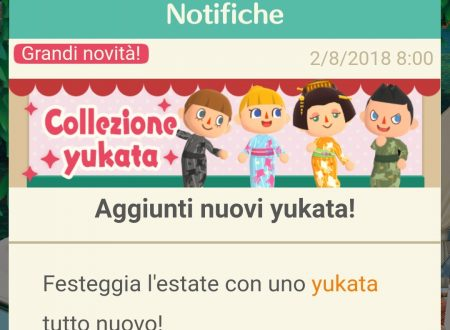 Animal Crossing: Pocket Camp, ora disponibili dei nuovi Yukata per il periodo estivo