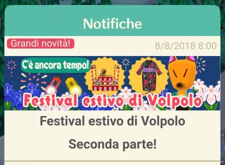 Animal Crossing: Pocket Camp, ora disponibile la seconda parte del Festival estivo di Volpolo