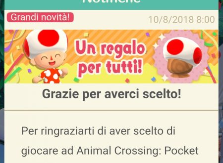 Animal Crossing: Pocket Camp, ora disponibile in regalo il Cappello di Toad