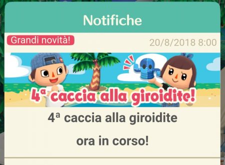 Animal Crossing: Pocket Camp, ora disponibile la quarta caccia alla giroidite