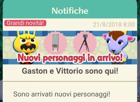 Animal Crossing: Pocket Camp, disponibili tre nuovi animali: Gaston, Vittorio ed Elisa