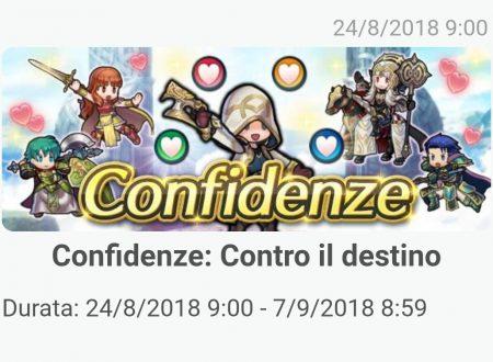 Fire Emblem Heroes: ora disponibile il nuovo evento Confidenze: contro il destino