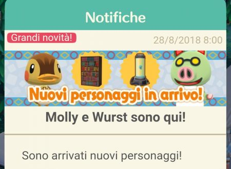 Animal Crossing: Pocket Camp, Molly e Wurst sono i due nuovi animali disponibili nel titolo mobile