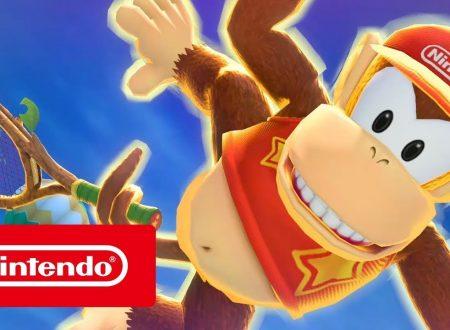 Mario Tennis Aces: pubblicato il trailer su Diddy Kong, protagonista del torneo di settembre