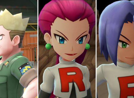 Pokemon Let's Go! Pikachu e Eevee: pubblicato un nuovo trailer sulle Megaevoluzioni, il Team Rocket, Aranciopoli e Lt. Surge