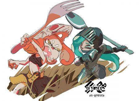 Splatoon 2: pubblicato l'artwork dello Splatfest americano, meglio la forchetta o il cucchiaio?
