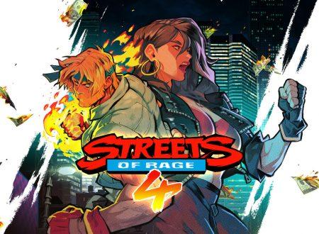 Streets of Rage 4: il titolo annunciato ufficialmente anche per Nintendo Switch
