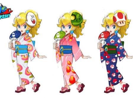 Super Mario Odyssey: mostrati dei concept art di Peach con lo Yukata
