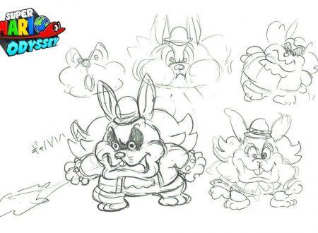 Super Mario Odyssey: mostrati dei concept art di Spewart, il basso l'intrattenitore dei Broodals