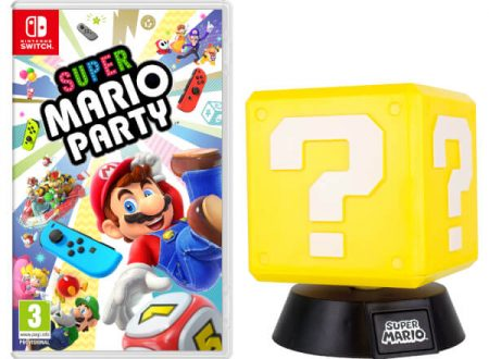 Super Mario Party: il titolo in preorder sul Nintendo UK Store con la Question Block Lamp.