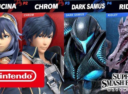 Super Smash Bros. Ultimate: pubblicati nuovi video, #TeamFireEmblem vs. #TeamMetroid e King K. Rool contro Snake
