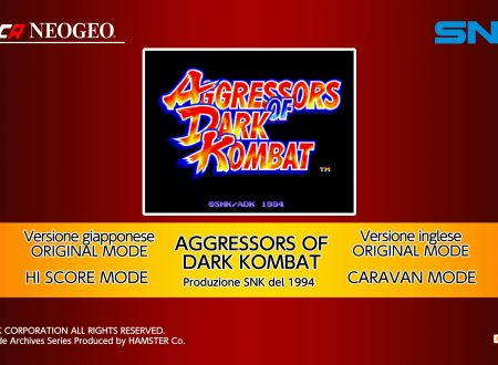 ACA NEOGEO Aggressors of Dark Kombat, uno sguardo in video al titolo dai Nintendo Switch europei