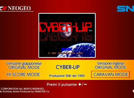 ACA NEOGEO Cyber-Lip, uno sguardo in video al titolo dai Nintendo Switch europei