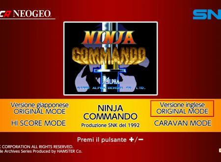 ACA NEOGEO Ninja Commando, uno sguardo in video al titolo dai Nintendo Switch europei