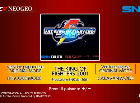 ACA NEOGEO The King of Fighters 2001: uno sguardo in video al titolo dai Nintendo Switch europei