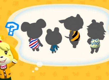 Animal Crossing: Pocket Camp: teasato l'arrivo di quattro nuovi animali presto nel titolo