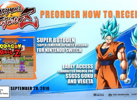 Dragon Ball FighterZ: il pre-order del titolo sarà l'unico modo per ottenere Dragon Ball Z: Super Butouden