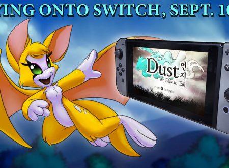 Dust: An Elysian Tail, pubblicato il trailer di lancio del titolo su Nintendo Switch