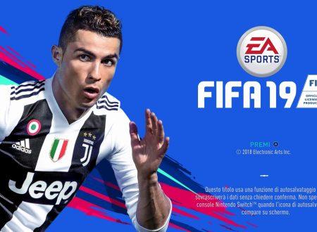 FIFA 19: uno sguardo in video alla versione Nintendo Switch con Lazio vs. Juventus