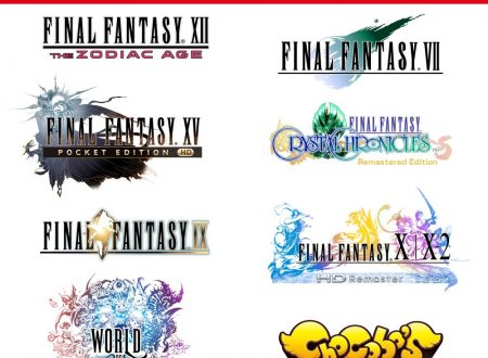 FINAL FANTASY VII, FINAL FANTASY XII THE ZODIAC AGE e FINAL FANTASY XV POCKET EDITION HD sono in arrivo su Nintendo Switch