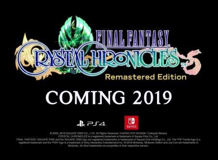 Final Fantasy Crystal Chronicles Remastered Edition è in ufficialmente in arrivo su Nintendo Switch
