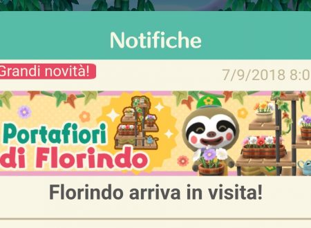 Animal Crossing: Pocket Camp, Florindo arriva in visita nei campeggi con i portafiori