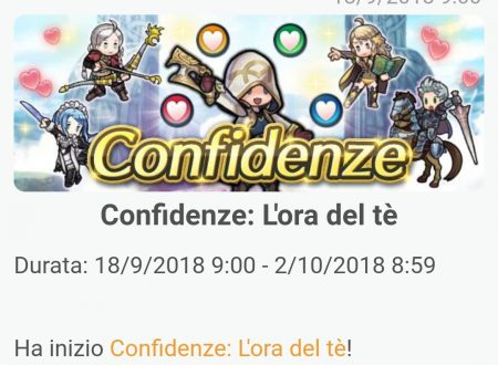Fire Emblem Heroes: ora disponibile l'evento Confidenze: l'ora del tè