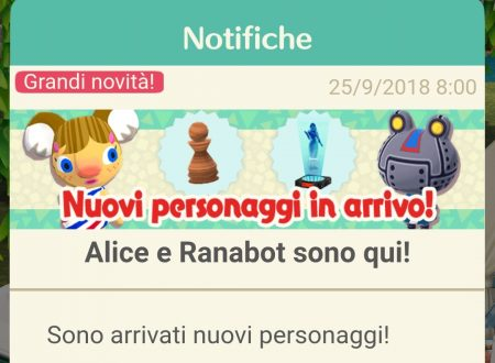 Animal Crossing: Pocket Camp, Alice, Ranabot, Rocco e Lila sono i quattro nuovi animali ora disponibili nel titolo mobile