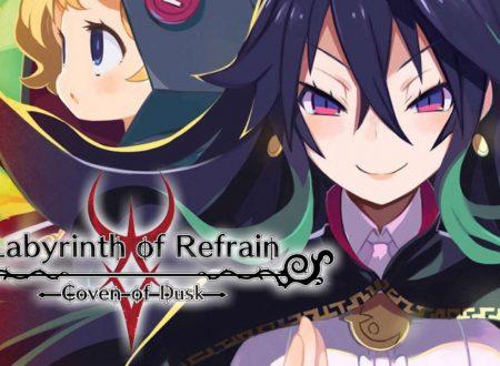 Labyrinth of Refrain: Coven of Dusk, pubblicato il trailer di lancio del titolo su Nintendo Switch