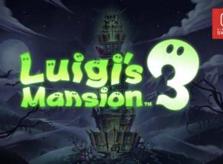 Luigi's Mansion 3: il titolo annunciato ufficialmente, in arrivo nel 2019 su Nintendo Switch