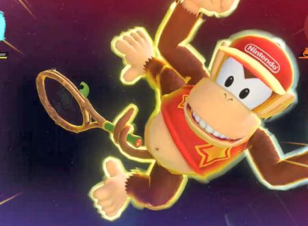 Mario Tennis Aces: uno sguardo in video a Diddy Kong nel torneo di settembre