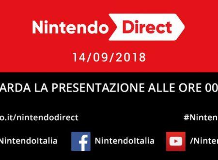 Nintendo Direct: 14.9.2018, link e video della diretta livestream di Nintendo