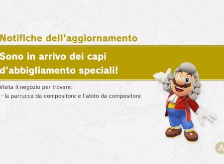 Super Mario Odyssey: la parrucca e l'abito da compositore sono ora disponibili nel titolo
