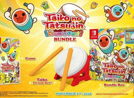 Taiko no Tatsujin: Drum 'n' Fun!: pubblicato un nuovo trailer che ci mostra il bundle con il tamburo