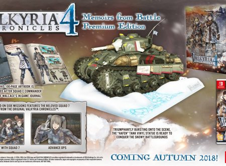 Valkyria Chronicles 4: pubblicato un video unboxing della Memoirs from Battle Premium Edition