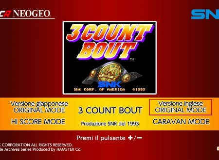 ACA NEOGEO 3 Count Bout: uno sguardo in video al titolo dai Nintendo Switch europei