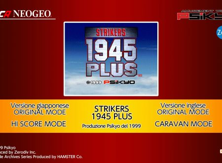 ACA NEOGEO Strikers 1945 Plus: uno sguardo in video al titolo dai Nintendo Switch europei