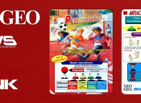 ACA NeoGeo Pleasure Goal: 5 On 5 Mini Soccer: è in arrivo il 1 novembre sui Nintendo Switch europei
