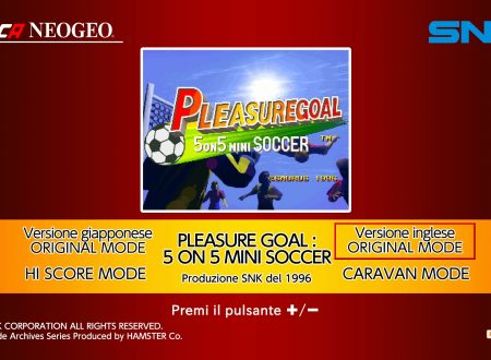 ACA NeoGeo Pleasure Goal: 5 On 5 Mini Soccer: uno sguardo in video al titolo dai Nintendo Switch europei